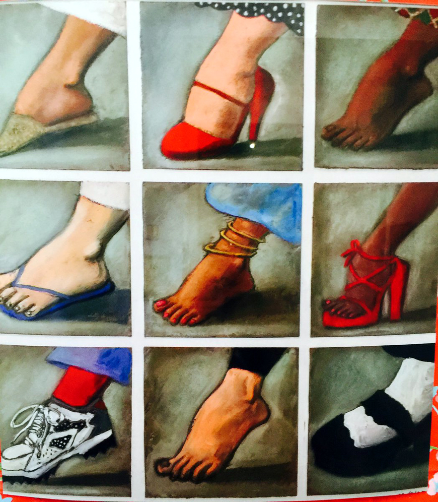 """""""Ces pieds colorés et joyeux"""" œuvre de Mariano Otero"""