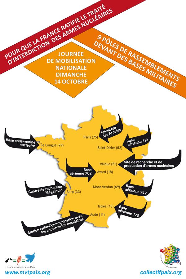 affiche pour le rassemblement du 14 octobre 2018