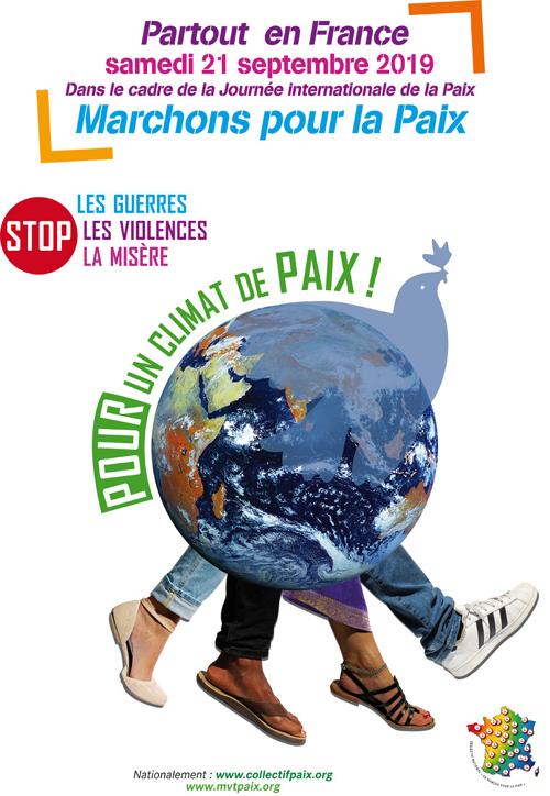 marchons pour la paix septembre 2019