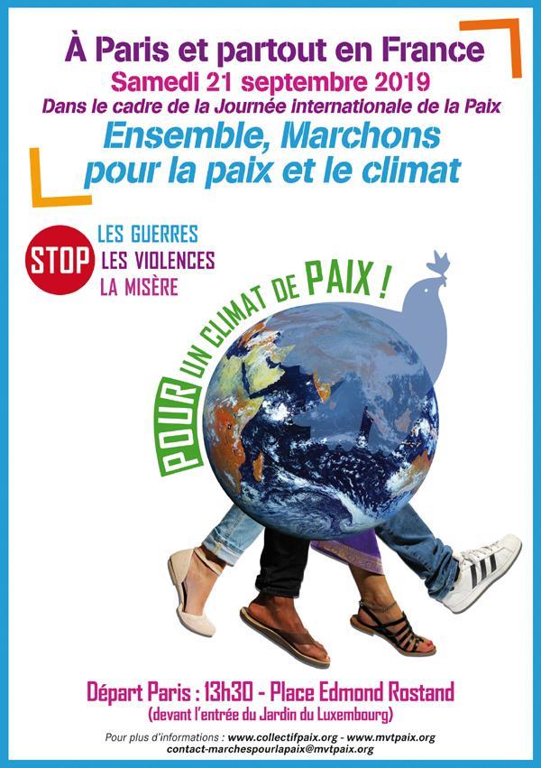 affiche marche pour la paix et le climat 2019