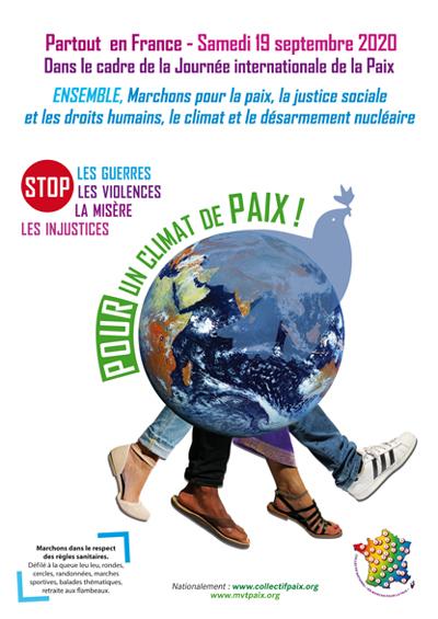 marchons pour la paix le 19 septembre 2020